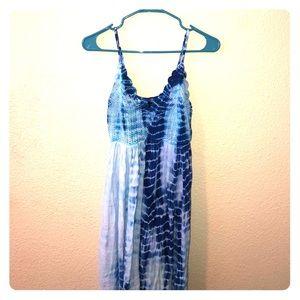 Tie dye boho maxi dress